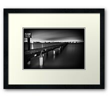 Take a Long Walk - Sylvania, NSW Framed Print