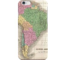 vintage Map of South America iPhone Case/Skin