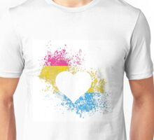 Pansexual Pride Heart Unisex T-Shirt