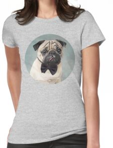 Mr Pug Womens Fitted T-Shirt