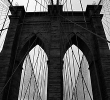 Brooklyn bridge New York, monochrome by Magdalena Warmuz-Dent