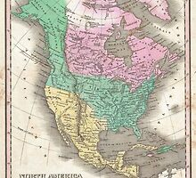 The vintage map of North America by ModernFaces