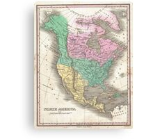 The vintage map of North America Canvas Print
