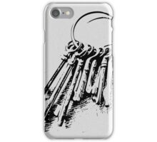vintage keys iPhone Case/Skin