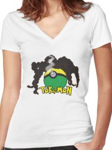 Tokemon Women's Fitted V-Neck T-Shirt