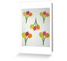 Happy Tulips Greeting Card