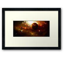 Asteroid Belt Framed Print