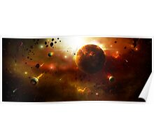 Asteroid Belt Poster