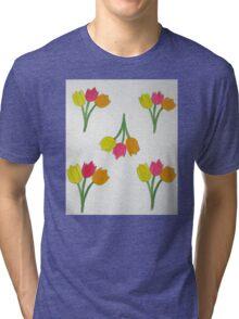 Happy Tulips Tri-blend T-Shirt