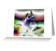Alien Trumpet Player Greeting Card
