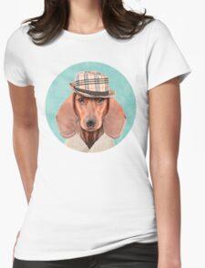 Mr Dachshund Womens Fitted T-Shirt
