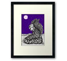 Devil-Angel-Dude Meditates Framed Print