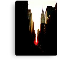 Manhattanhenge Sunset and the Chrysler Building Canvas Print