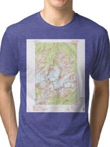 USGS Topo Map Washington State WA Mount Olympus 242522 1990 24000 Tri-blend T-Shirt