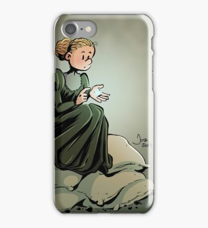 Marie Curie and the Radium. iPhone Case/Skin