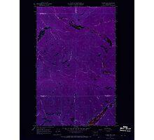 USGS Topo Map Washington State WA Aladdin Mtn 239766 1967 24000 Inverted Photographic Print