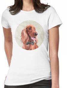 Mr. English Cocker Spaniel portrait Womens Fitted T-Shirt