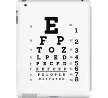 Snellen Eye Chart iPad Case/Skin