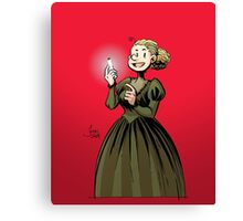 Marie Curie and the Radium 2. Canvas Print