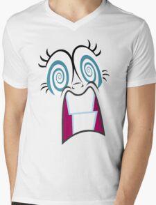 Crazy Pie Mens V-Neck T-Shirt