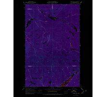 USGS Topo Map Washington State WA Aladdin Mtn 239765 1967 24000 Inverted Photographic Print