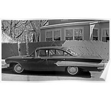 Old Chevy Bel Air B&W Poster