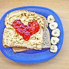 Heart of Strawberry Jelly PBJ Sandwich by ieatstars