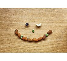 Winking smile face of Mixed Nuts Photographic Print