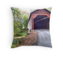 Meems Bottom Covered Bridge Throw Pillow