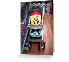 Character in a Stroller Greeting Card