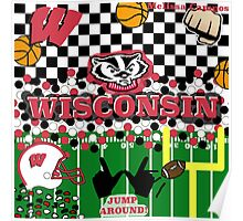 UNIVERSITY OF WISCONSIN COLLAGE Poster