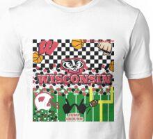 UNIVERSITY OF WISCONSIN COLLAGE Unisex T-Shirt