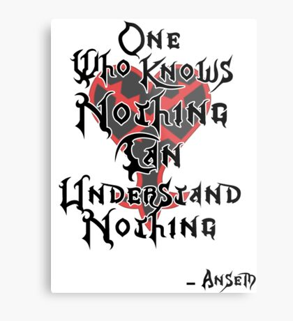 Kingdom Hearts: Ansem quote Metal Print