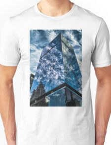 clouds reflect in modern glass architecture Unisex T-Shirt