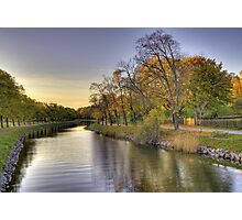 Idyllic canal in autumn. Photographic Print