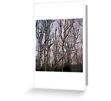 Stylized Trees Greeting Card