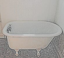 Old-Time Bathtub by Betty Mackey