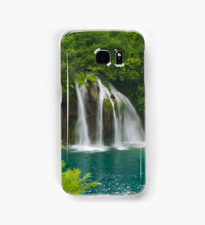 Scenic waterfall and turquoise water. Samsung Galaxy Case/Skin