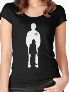 mr robot shilouette Women's Fitted Scoop T-Shirt