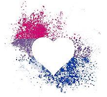 Bisexual Pride Heart Photographic Print
