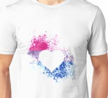 Bisexual Pride Heart Unisex T-Shirt