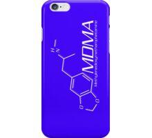 MDMA Molecule iPhone Case - Purple, White iPhone Case/Skin