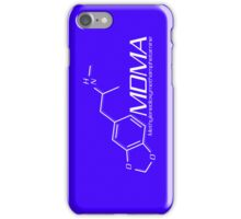 MDMA Molecule iPhone Case - Purple, White iPhone Case/Skin