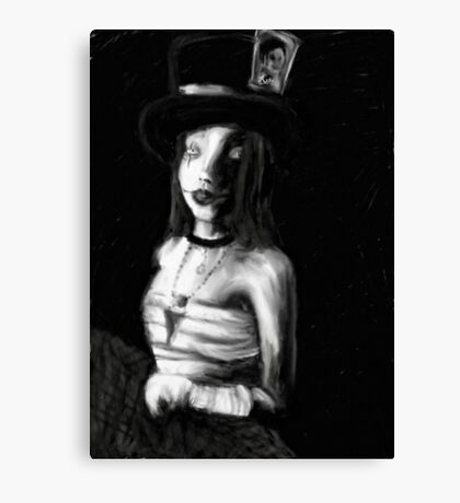 The Mad Hatteress Canvas Print