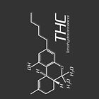 THC Molecule iPhone Case - Dark Grey, White by Netherlabs