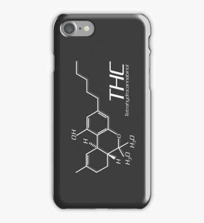 THC Molecule iPhone Case - Dark Grey, White iPhone Case/Skin