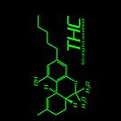 THC Molecule iPhone Case - Black, Green by Netherlabs
