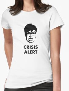 Garret Crisis Alert  Womens Fitted T-Shirt