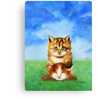 Cat Tower Canvas Print