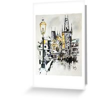 Charles Bridge in winter Greeting Card